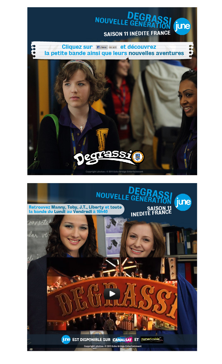 creation Fangate page facebook >> Degrassi